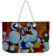 Barn Dancing Snowmen Weekender Tote Bag
