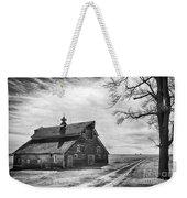 Barn In Black And White Weekender Tote Bag