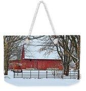 Barn In The Winter Weekender Tote Bag