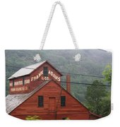 Barn In Vermont Along Amtrack Weekender Tote Bag