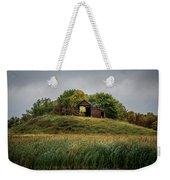 Barn On Hill Weekender Tote Bag