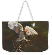 Barn Owl Weekender Tote Bag by Alan M Hunt
