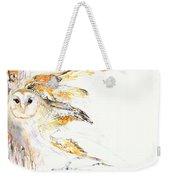 Barn Owl And Tree Weekender Tote Bag