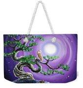 Barn Owl In Twisted Pine Tree Weekender Tote Bag