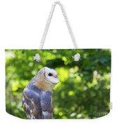 Barn Owl Looking Skyward Weekender Tote Bag