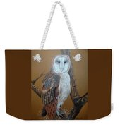 Barn Owl On Tree Weekender Tote Bag