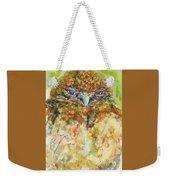 Barn Owl Thinking Weekender Tote Bag