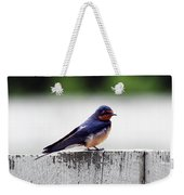 Barn Swallow At Fort Larned Weekender Tote Bag