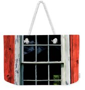 Barn Window Closeup At Old World Wisconsin Weekender Tote Bag
