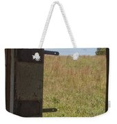 Barn Window View Weekender Tote Bag