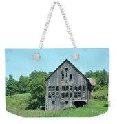 Barn With Chickens In Window Weekender Tote Bag