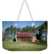 Barn With Tree In Silo Weekender Tote Bag