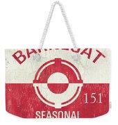 Barnegat Beach Badge Weekender Tote Bag