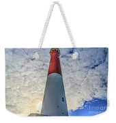 Barnegat Lighthouse In The Clouds Weekender Tote Bag