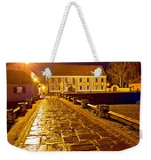 Baroque Town Of Varazdin Square At Evening Weekender Tote Bag