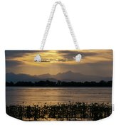 Barr Lake Spring Sunset Weekender Tote Bag by Cascade Colors