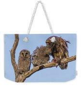 Barred Owl Family Weekender Tote Bag