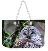 Barred Owl In Tree Weekender Tote Bag