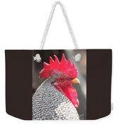 Barred Rock Rooster Weekender Tote Bag