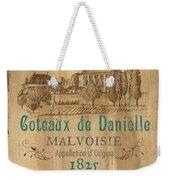Barrel Wine Label 2 Weekender Tote Bag