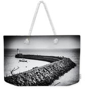 Barry Island Breakwater Film Noir Weekender Tote Bag