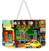 Baseball And A Bagel Weekender Tote Bag