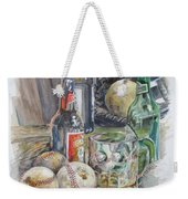 Baseball And Beer Weekender Tote Bag