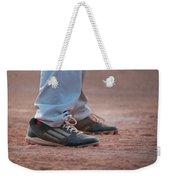 Baseball Cleats In The Dirt Weekender Tote Bag by Kelly Hazel
