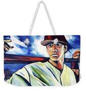 Baseball Crucifix Weekender Tote Bag by John Jr Gholson