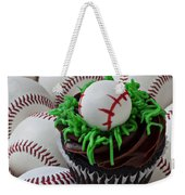 Baseball Cupcake Weekender Tote Bag by Garry Gay