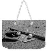 Baseball Game In Black And White Weekender Tote Bag