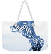 Baseball Girl-blue Weekender Tote Bag