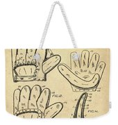 Baseball Glove Patent 1910 Sepia Weekender Tote Bag