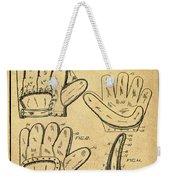 Baseball Glove Patent 1910 Sepia With Border Weekender Tote Bag