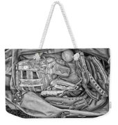 Baseball Gloves Bw Weekender Tote Bag