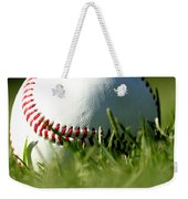 Baseball In Grass Weekender Tote Bag