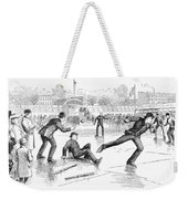Baseball On Ice, 1884 Weekender Tote Bag by Granger