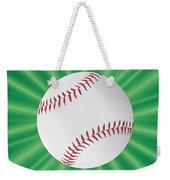 Baseball Over Green Weekender Tote Bag