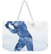 Baseball Player-blue Weekender Tote Bag