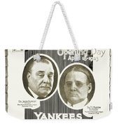 Baseball Program, 1923 Weekender Tote Bag by Granger
