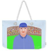 Baseball Star Portrait Weekender Tote Bag