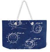 Baseball Training Device Patent 1961 Blue Weekender Tote Bag