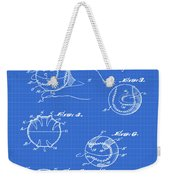 Baseball Training Device Patent 1961 Blueprint Weekender Tote Bag