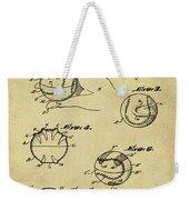 Baseball Training Device Patent 1961 Sepia Weekender Tote Bag
