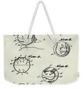 Baseball Training Device Patent 1961 Weathered Weekender Tote Bag