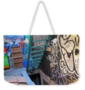Basement Apartment In Graffiti Alley Weekender Tote Bag