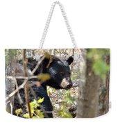 Bashful Black Bear Weekender Tote Bag