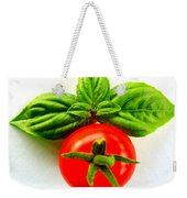 Basil And Cherry Tomato Weekender Tote Bag