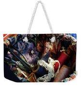 Basket Of Crocheting And Thread Weekender Tote Bag