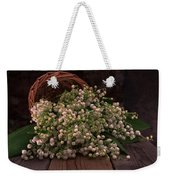 Basket Of Fresh Lily Of The Valley Flowers Weekender Tote Bag